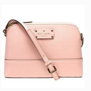 kate spade light pink dome crossbody purse bag